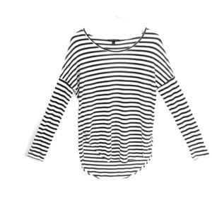 Banana Republic Black & White Striped Shirt